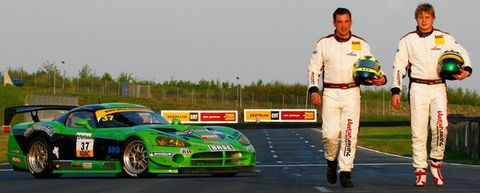Sascha Bert und Heiko Hammel mit der Dodge Viper GT3 Competiton Coupé